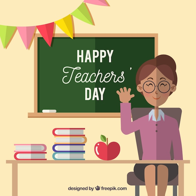 Teacher smiling, teacher\'s day