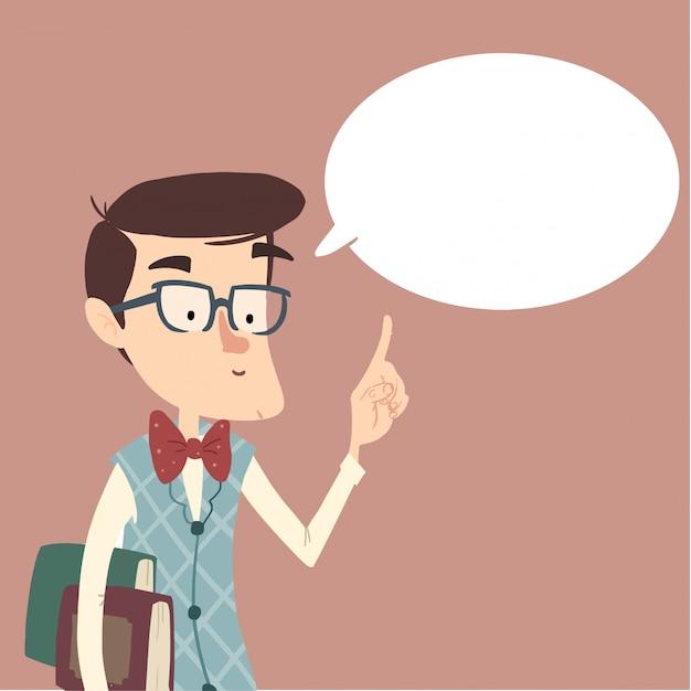 Teacher talking or giving advice Premium Vector