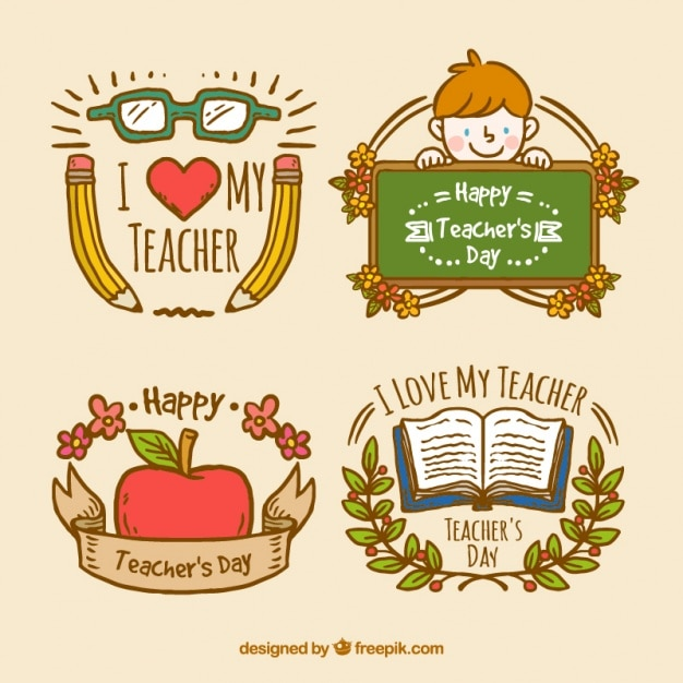 Teachers day badges