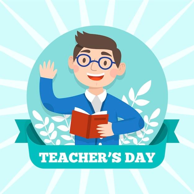教師の日のコンセプト 無料ベクター