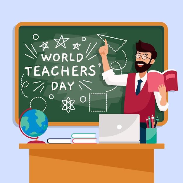 教師の日イラストコンセプト Premiumベクター
