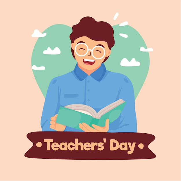 Teachers' day illustration Free Vector