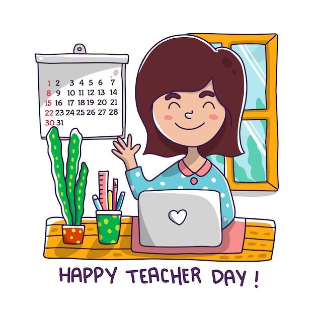 教師の日 Premiumベクター