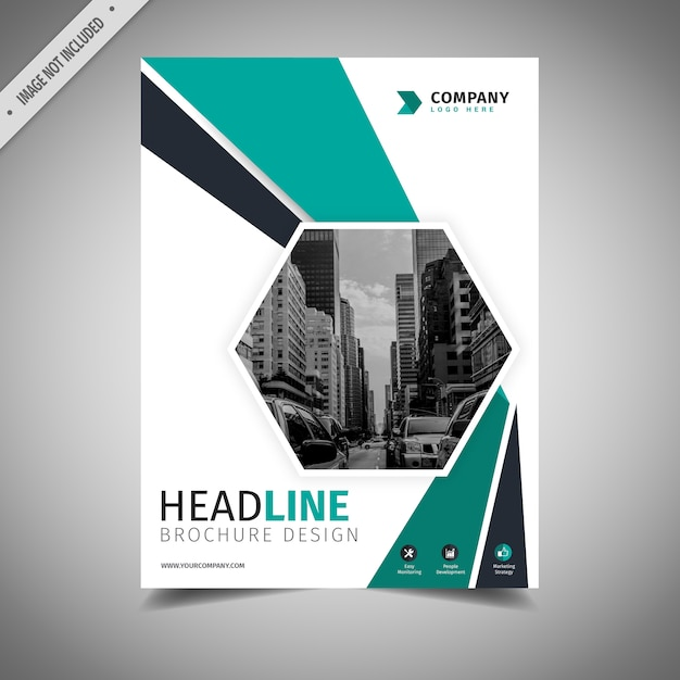 Teal And White Business Brochure Design Vector  Free Download