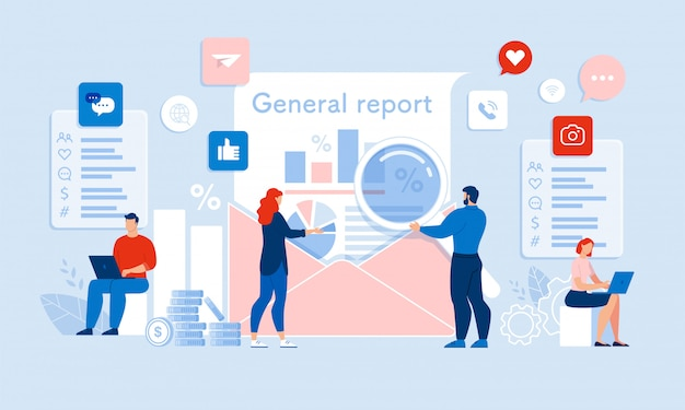 Team auditor составление медиа аудит общий отчет Premium векторы
