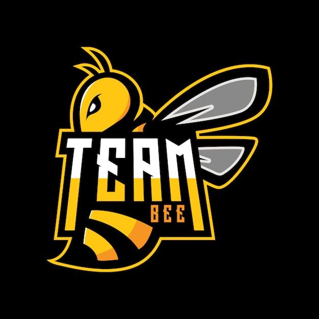 Team bee logo Premium Vector