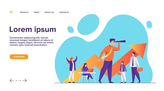 Pagina di destinazione del concetto di team leader e lavoro di squadra Vettore gratuito