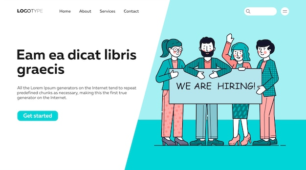 Team looking for professionals Free Vector