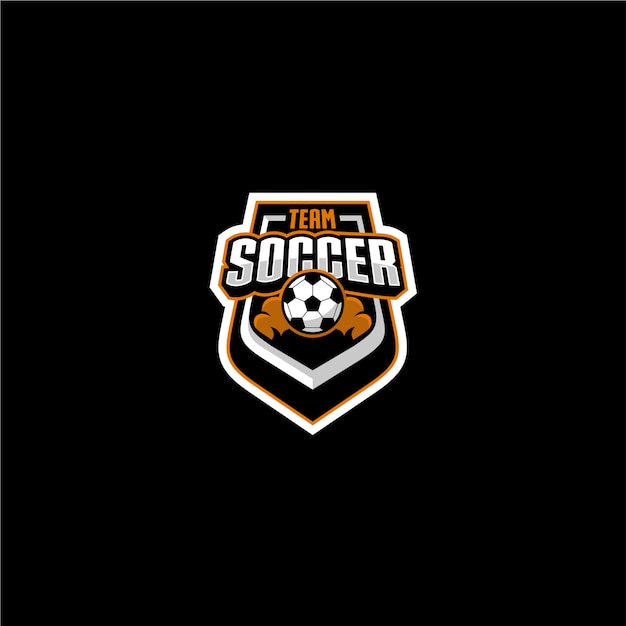Логотип команды по футболу Premium векторы