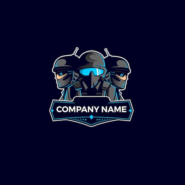 Team soldier mascot logo Premium Vector