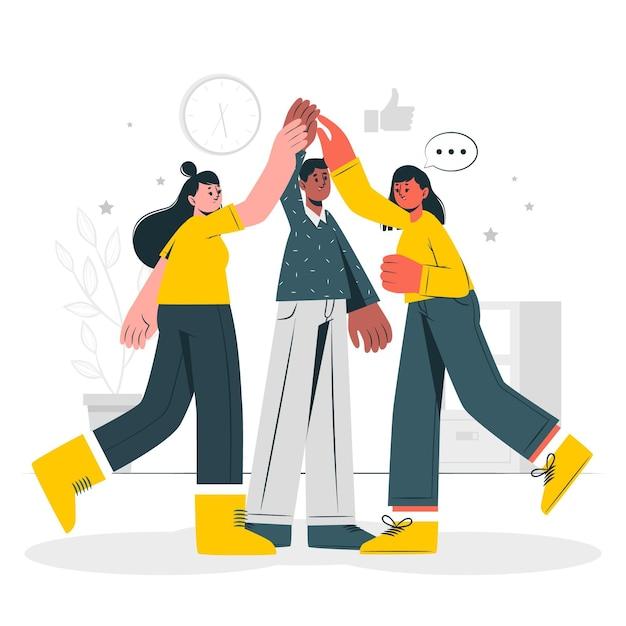 Illustrazione di concetto di spirito di squadra Vettore gratuito