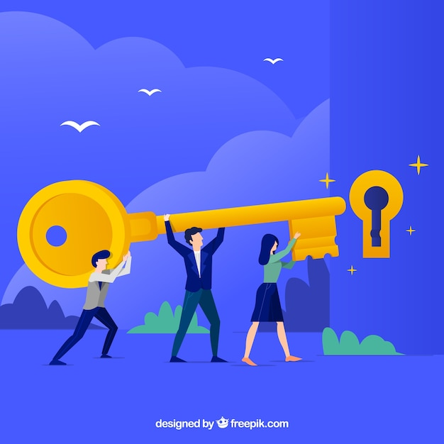 Team work business concept vector Free Vector