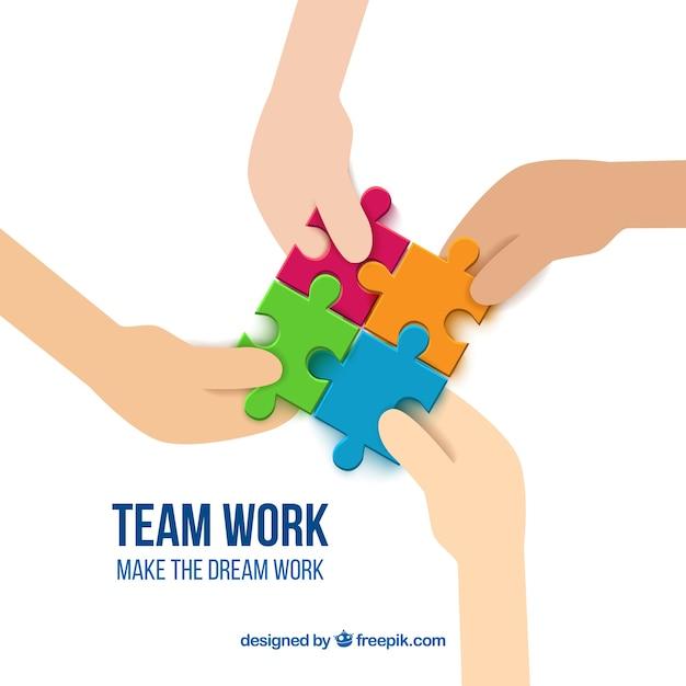 team work pieces vector premium download