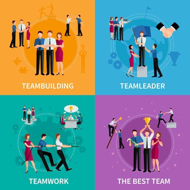 Teamwork 2x2 Concept