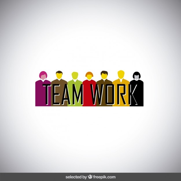 Teamwork banner with avatars