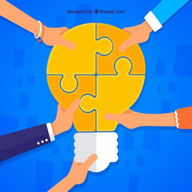 Teamwork, bulb puzzle