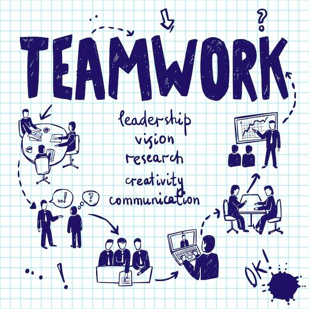 Teamwork design concept Free Vector