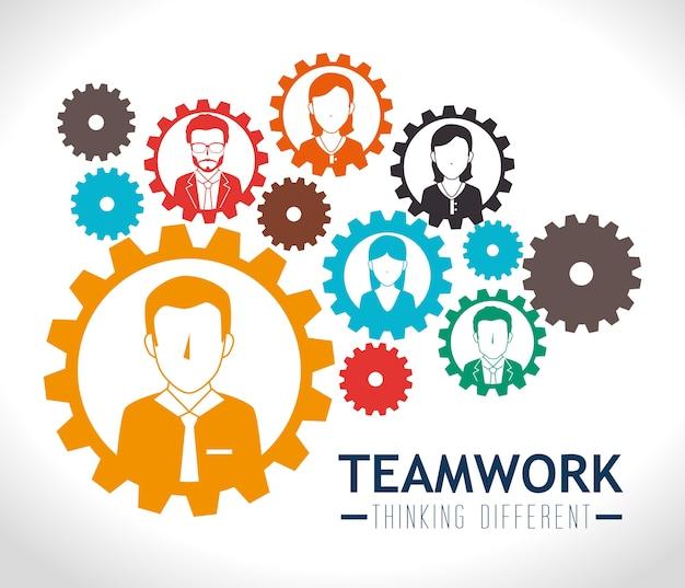 Teamwork design. Premium Vector