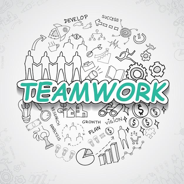 Teamwork elements collection