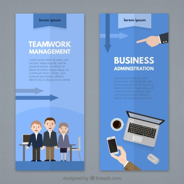 Teamwork flyer template Free Vector