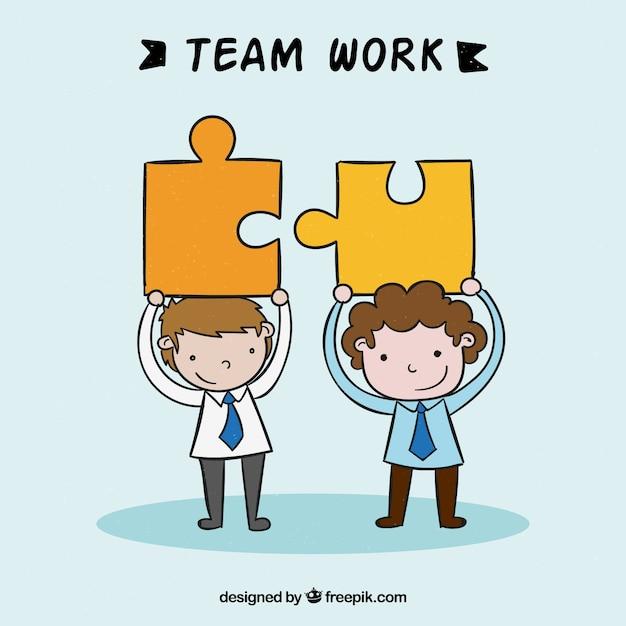 Teamwork, puzzle