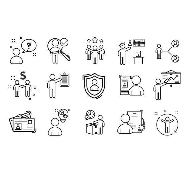 Teamwork to success icon set Premium Vector