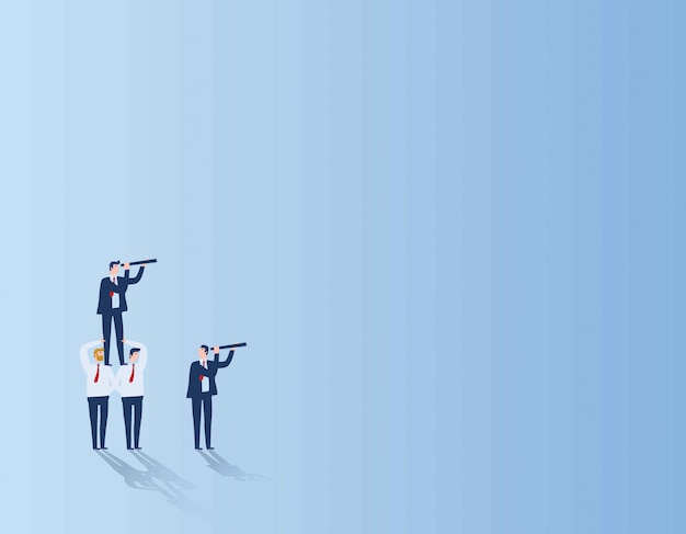 Teamwork target business people concept Premium Vector