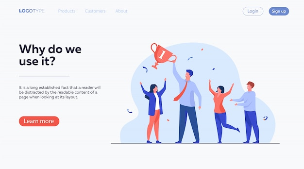 Teamwork and team success concept Free Vector
