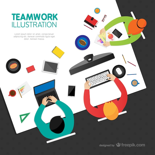 Teamwork template Vector | Free Download