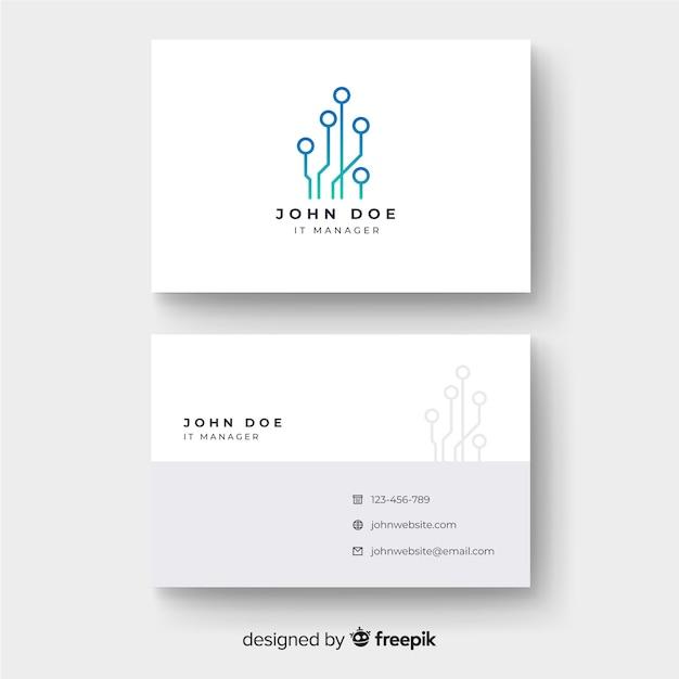 Tech business card Free Vector