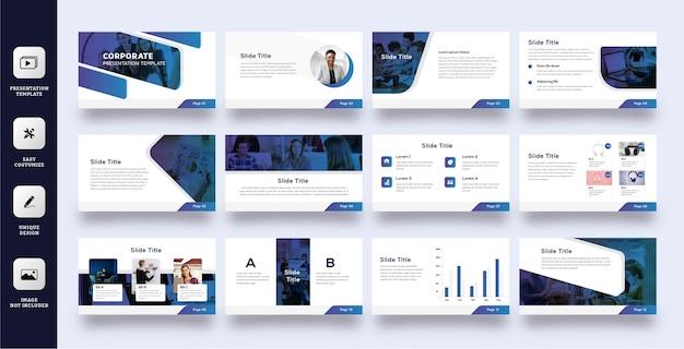 Шаблон презентации бизнес-слайдов Premium векторы