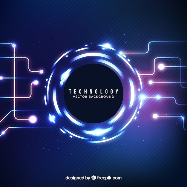 Tech shiny abstract background Free Vector
