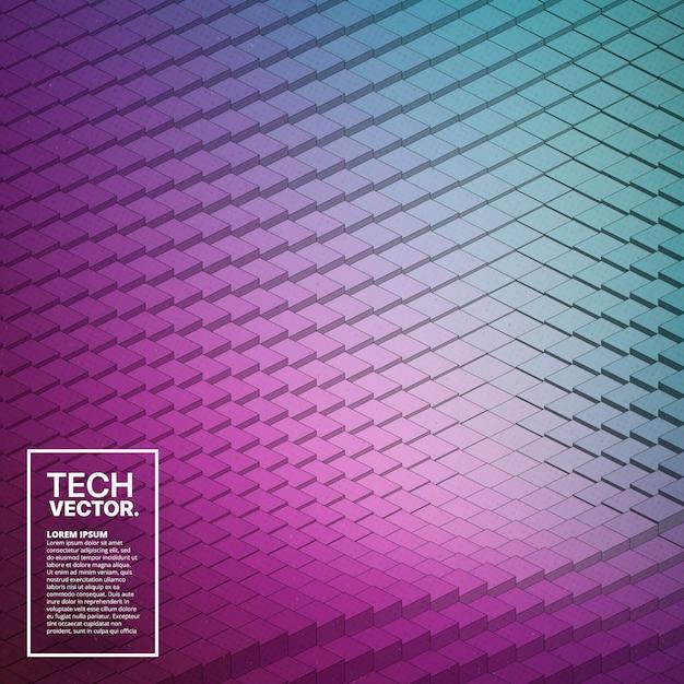 Абстрактный вектор tech waveform фон Premium векторы
