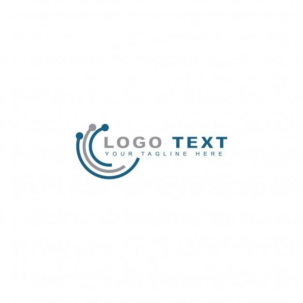 Tech world logo Free Vector