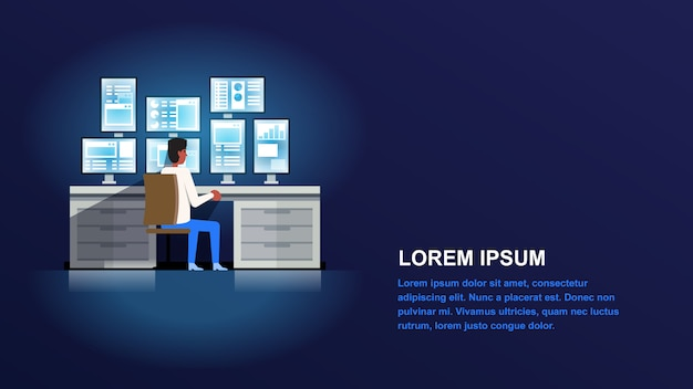Technical support administrator. Premium Vector