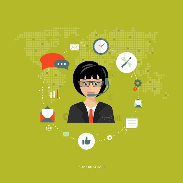 Technical support assistant Free Vector