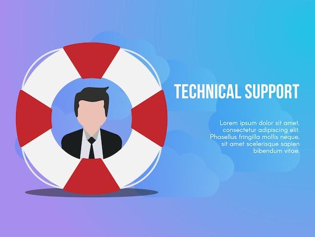Technical support concept Premium Vector