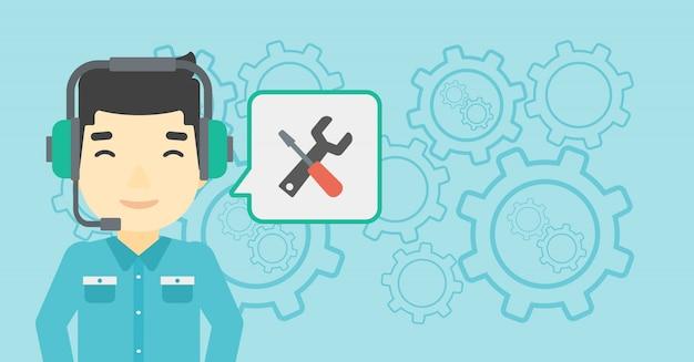Technical support operator Premium Vector