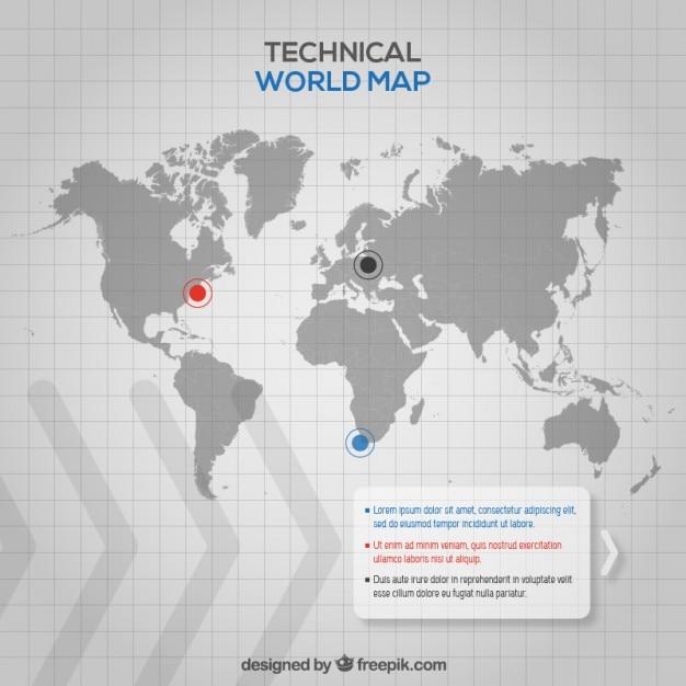 Technical World Map