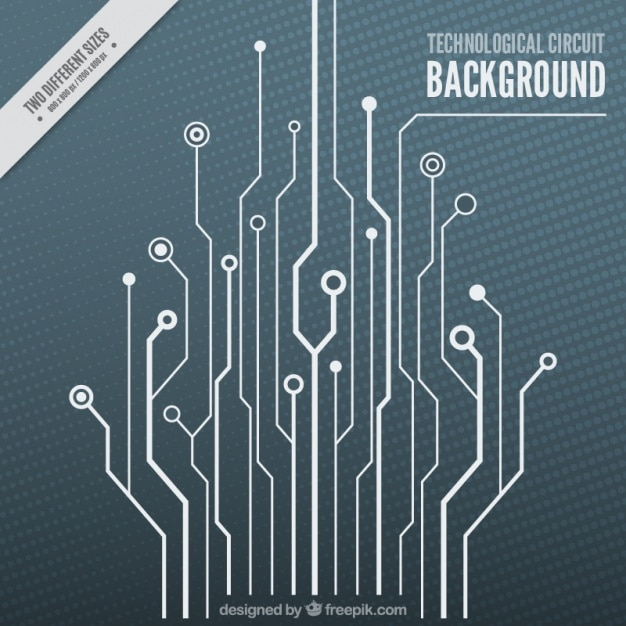Technological background with a white circuit Vector | Free Download