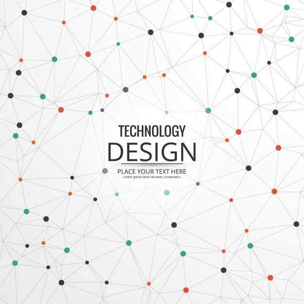 Technological background with dots Free Vector