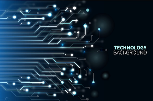 Technological Background Free Vector