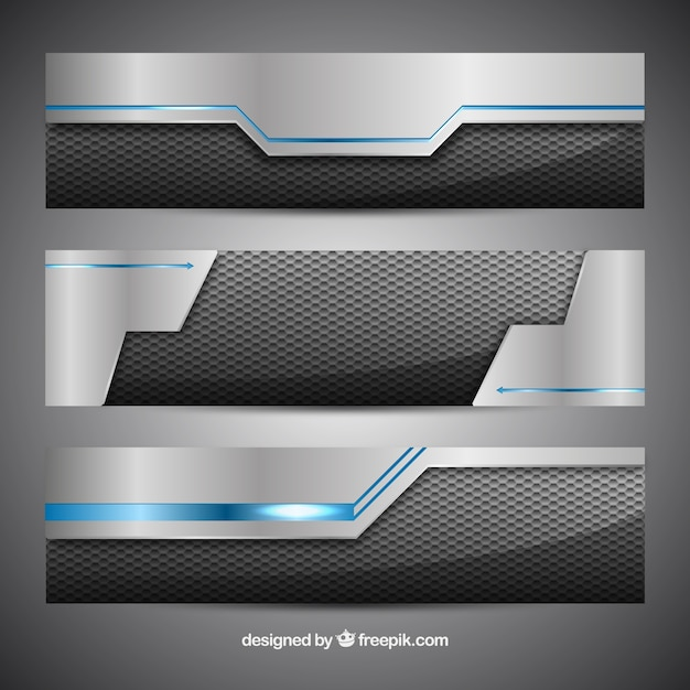 Technological banners Free Vector