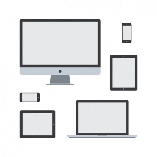 Technological devices design Free Vector