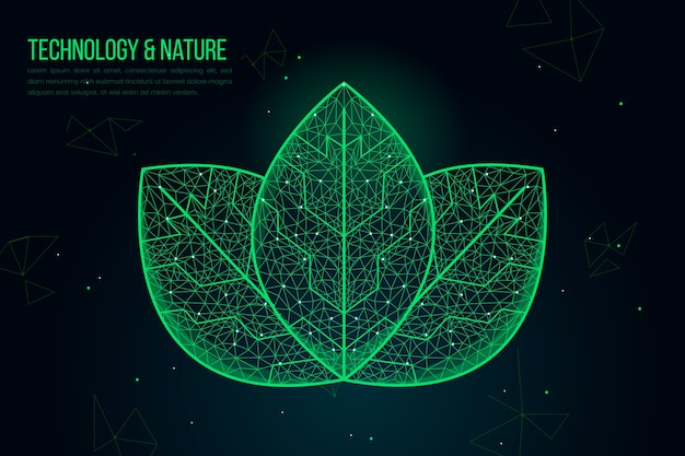 Technological ecology concept background Free Vector