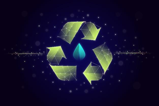 技術エコロジーコンセプトスクリーンセーバー 無料ベクター