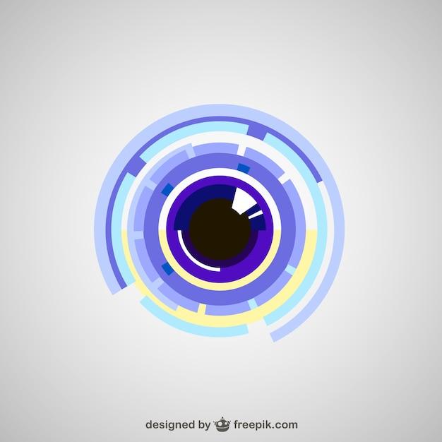 Technological eye Free Vector