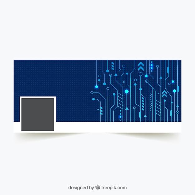 Technological facebook cover