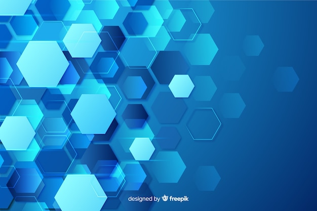 Technological honeycomb background flat design Premium Vector