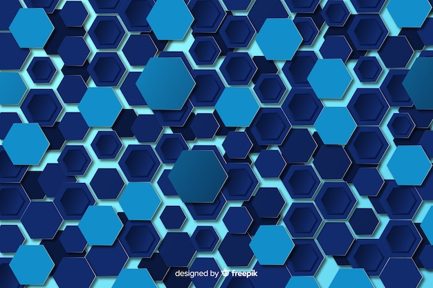 Technological honeycomb background flat design Free Vector
